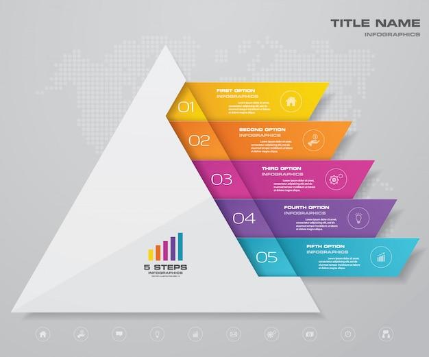 Piramide grafiek infographics
