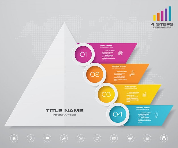 Piramide grafiek infographics