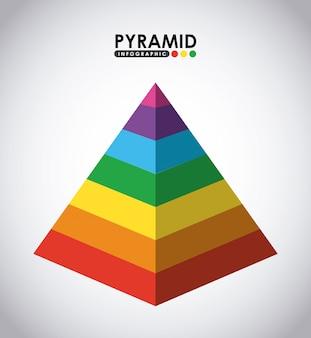 Piramide infographic ontwerp, vector grafische illustratie eps10