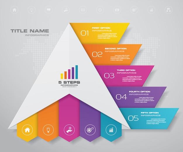 Piramide met vrije ruimte voor tekst op elk niveau.