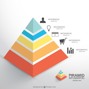 Piramide vector infogaphic