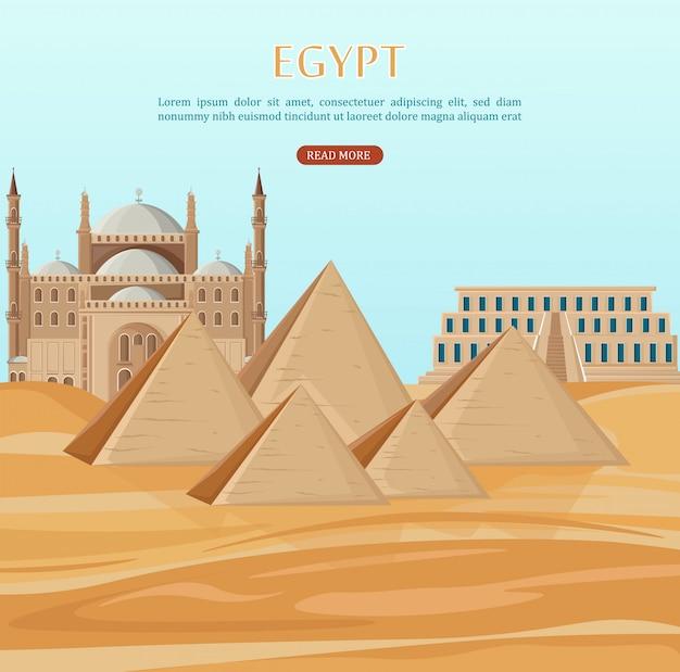Piramides kaart van egypte