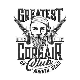 Pirate corsair sailor club