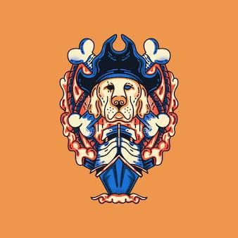 Pirate dogs illustratie