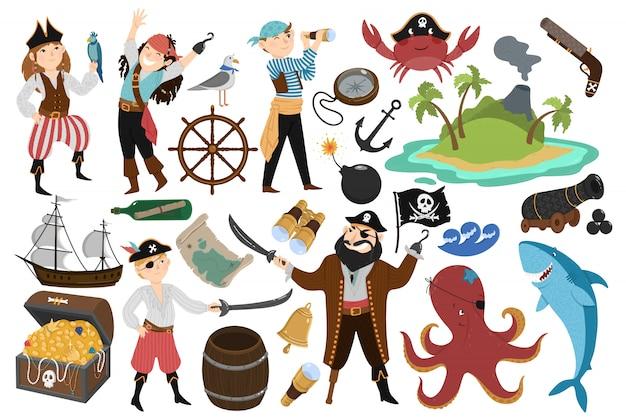 Pirate ingesteld