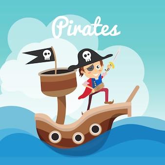 Piraten achtergrond ontwerp