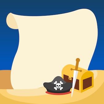 Piraten achtergrond sjabloon