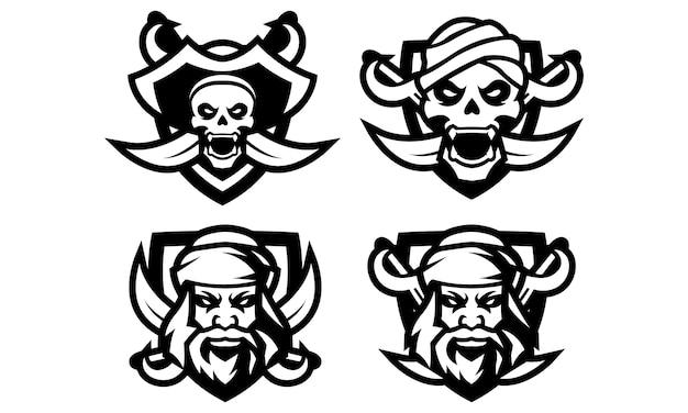 Piraten esports mascot logo collectie