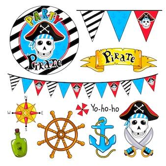 Piratenfeest elementen collectie