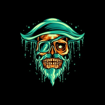 Piratenschedel mascotte