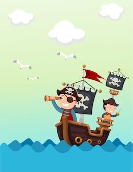 Piratenschip mooi landschap
