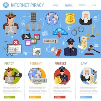 Piraterij concept