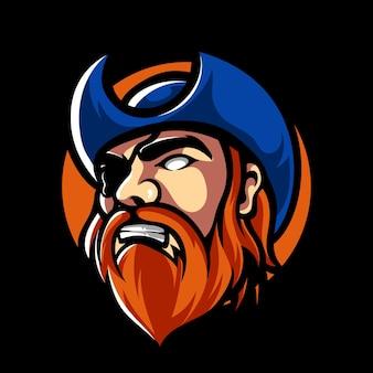 Pirates e sport mascotte-logo