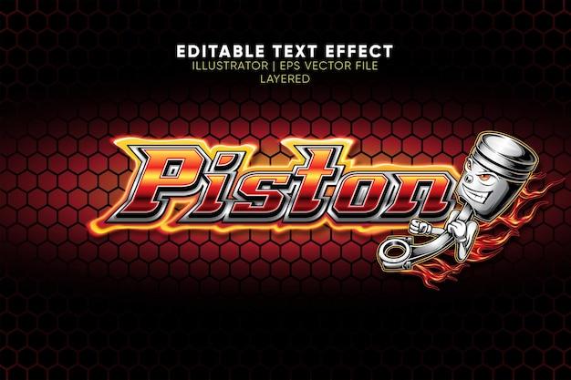 Piston teksteffect