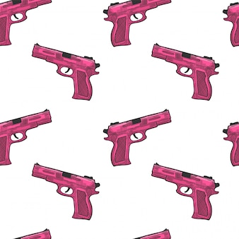 Pistool, vuurwapen voor bescherming