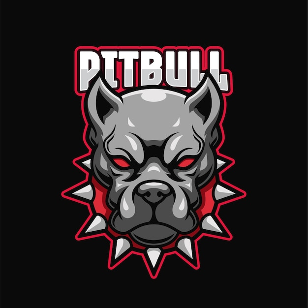 Pitbull e-sports logo sjabloon