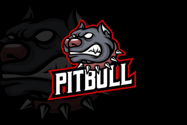 Pitbull - esport-logo sjabloon