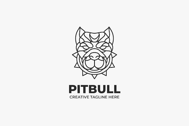 Pitbull head monoline-logo