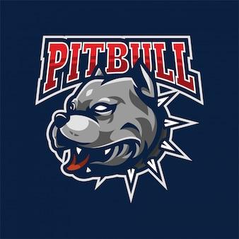 Pitbull mascotte logo