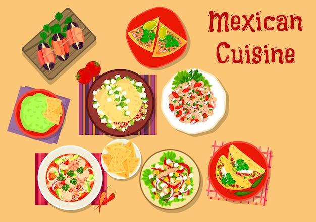 Pittige salade en snack uit de mexicaanse keuken