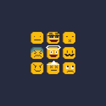 Pixel 8-bit emoticonset