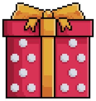 Pixel art kerstcadeau-item voor game bit