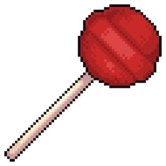 Pixel art lollipop item voor game bit