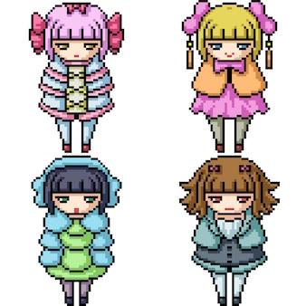 Pixel art meisje pop