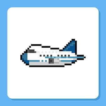 Pixel art mini vliegtuig pictogram