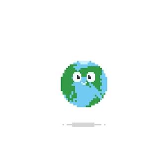 Pixel cute earth.