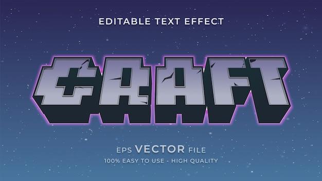 Pixel game bewerkbare tekst effect concept