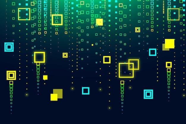 Pixel regen abstracte achtergrond