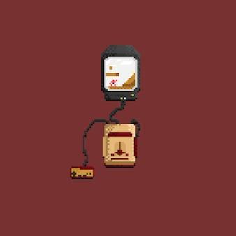 Pixel retro-consolegame