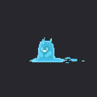 Pixel schattig watermonster
