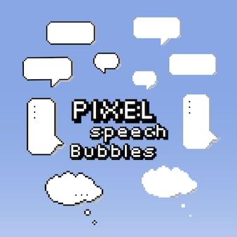 Pixel speech-ballon.