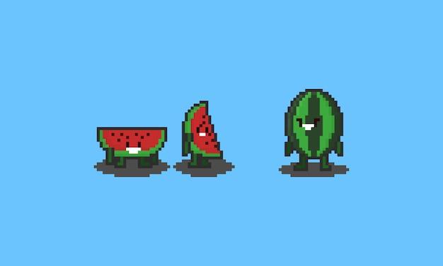 Pixel watermeloen tekens