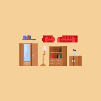 Pixel-woonkamermeubilair