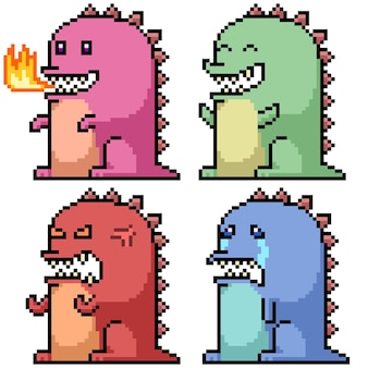 Pixelart van monster-emotie