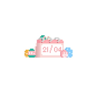 Pixelkalender met paasei