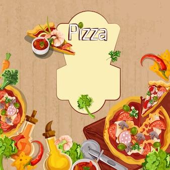 Pizza achtergrond sjabloon