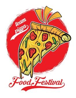 Pizza eten festival