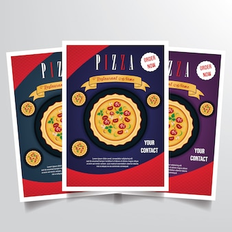 Pizza flyer sjabloon vector