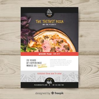 Pizza flyer sjabloon