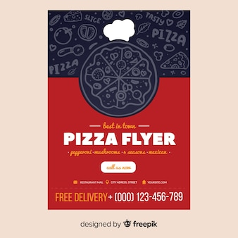 Pizza flyer sjabloon