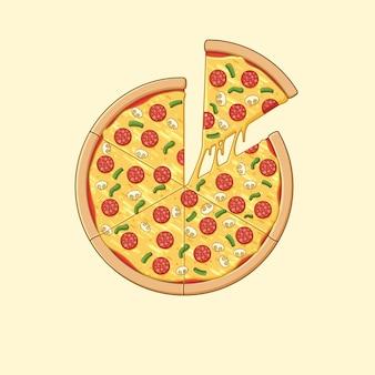 Pizza illustratie
