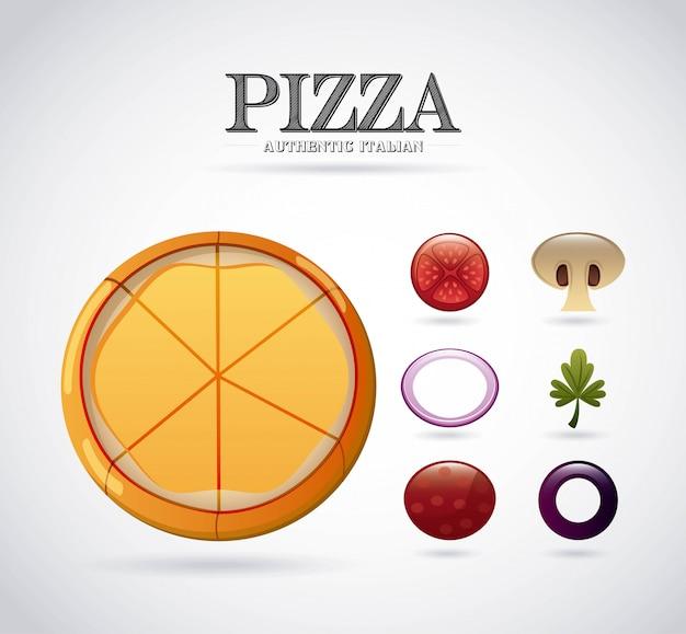 Pizza ingrediënten ontwerp
