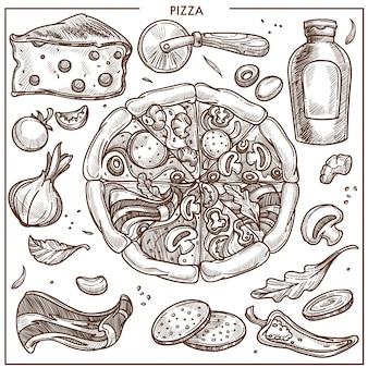 Pizza-ingrediënten