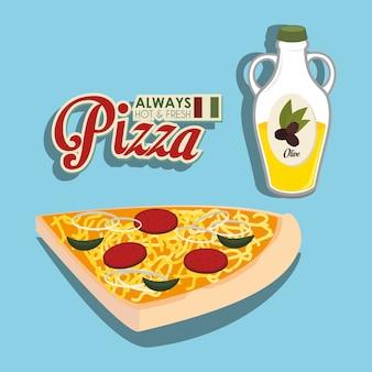 Pizza italiaans eten