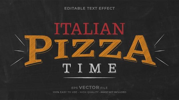 Pizza krijt bewerkbaar teksteffect