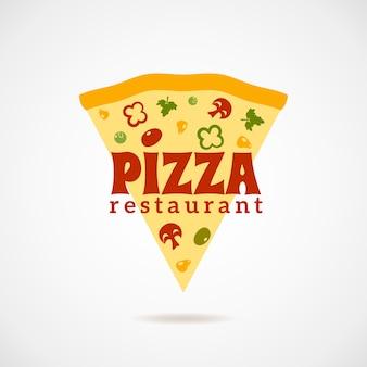 Pizza logo illustratie